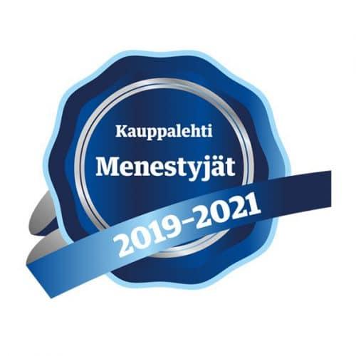 Kauppalehti Menestyjät 2019-2021 logo